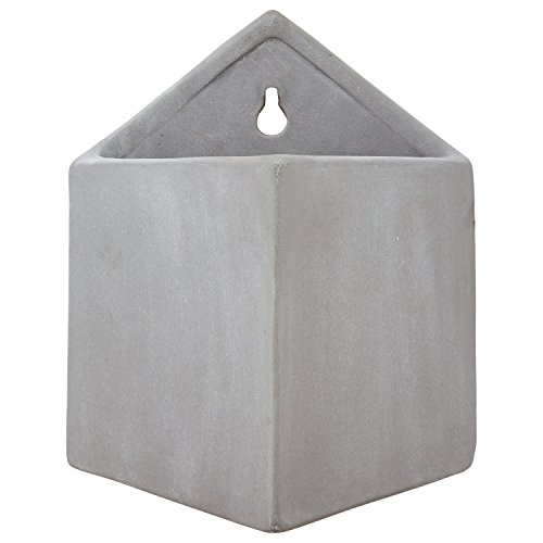 Rivet Pyramid-Shaped Wall Planter, 7.5
