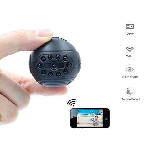 Sengy WiFi IP Mini-camera, draadloos, 1080p HD, micro action cam, DV DVR, infrarood nachtzicht-bewegingsdetectie, kleine camcorder, geschikt voor veiligheid thuis, kinderbewaking