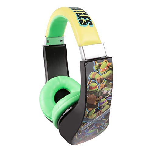 Teenage Mutant Ninja Turtles Kids Safe Over The Ear Headphones 30365-TRU   Kids Headphones, Volume Limiter for Developing Ears, 3.5MM Stereo Jack, Recommended for Ages 3-9, by Sakar