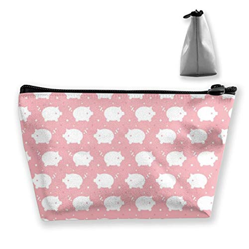 Trapezoid Makeup Pouch Storage Holder Snowy Pigs Womens Travel Case Cosmetic Makeup Pouch