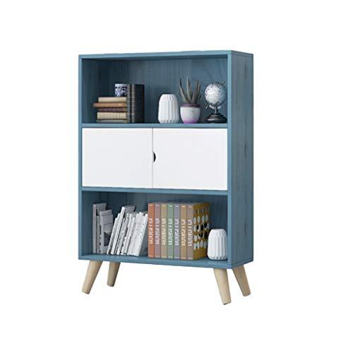Kiter Librero Estantería para Libros Nordic Simple estantería Baja Dormitorio Tabla Student Home Living Almacenamiento Librero pequeño Estante Creativo (Color : Blue)
