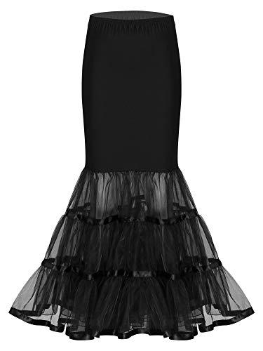 MSemis Falda Larga para Mujer Enaguas Vintage para Vestido de Fiesta Boda...