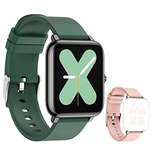 Smartwatch Uomo Donna Orologio Fitness Tracker Impermeabile IP67 Smart Watch Cardiofrequenzimetro da Polso Contapassi Activity Tracker con Notifiche Messaggi per Android iOS