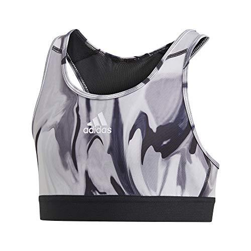 adidas Mädchen Alphaskin Aeroready Sport-BH, Dshgry/Glogry/Black, 152