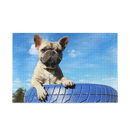 ALAZA French Bulldog Dog Animal Puppy Jigsaw Puzzle Leisure Creative Games 500 Pieces for Adults Children Gift