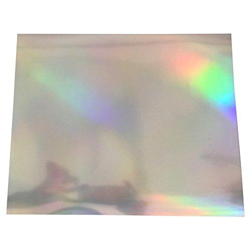 SUPVOX Holographische Folie Transferpapier Vinylfolien Transferfolie Textilfolie Hologrammfolie für T-Shirt Folie 5 Stücke