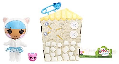 Lalaloopsy Littles Doll Bundles Snuggle Stuff con Osito-Muñeca de Invierno de 18cm con Vestido Azul y Zapatos Removibles-Caja Reutilizable como casa-Edad 3-103 años, Multicolor (577195C3)