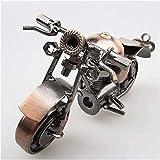 Scultura,Artesanías De Hierro Modelo De Motocicleta Adornos Boutique Creativa Regalo De Cumpleaños para Estudiantes Día De Decoración del Hogar Hecho A Mano