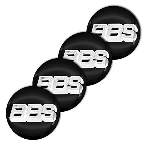 QUXING 4 Piezas Tapas Centro Tapacubos Stickers, para BBS RM RZ RG RS 56mm Rueda Emblema Logo Insignia Llantas centrales Emblema Accesorios