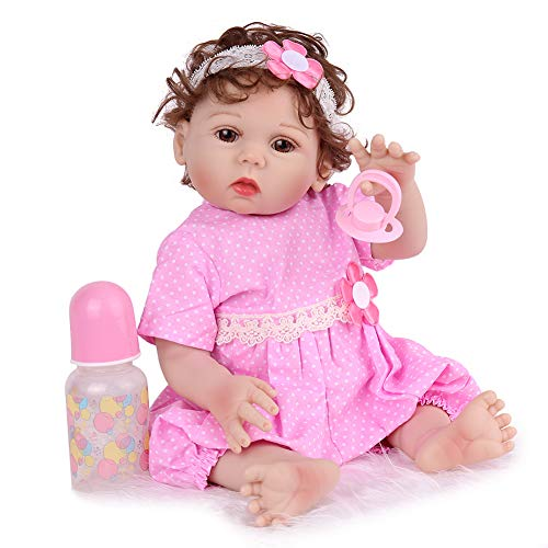 CHAREX Realistic Reborn Baby Dolls Full Body Silicone, 18inch Lifelike Waterproof Baby Dolls Anatomically Correct Newborn Baby Dolls 3+