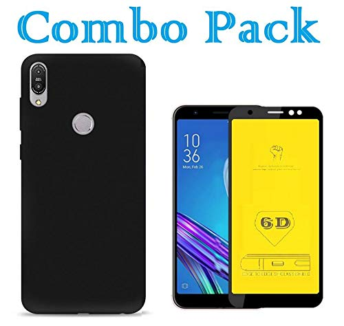 AONIR® Soft Back Cover & 6D Tempered Glass for Asus Zenfone Max M1 (ZB555KL) Combo of-Pudding