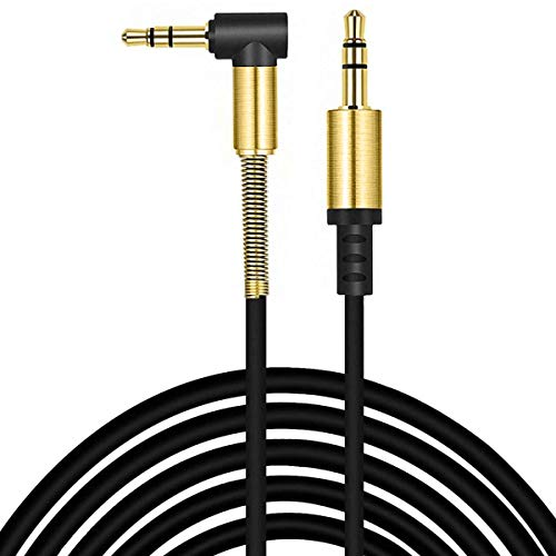 ULTRICS Cavo Aux Macchina, Audio Jack 3.5mm Angolo Materiale Ausiliario Maschio a Maschio Oro Placcato per Auto Cuffie Smartphone iPhone iPad iPod MP3 Laptop Tablet Stereo per la Casa PC - 1M