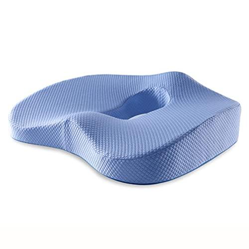 Chair Cushion Back Cushion Seat Cushions - Memory Foam Seat Cushion Pedic Pillow Coccyx Office Chair Cushion Hip Car Seat Wheelchair Hips Massage Vertebrae Seat Pad Comfortable Durable