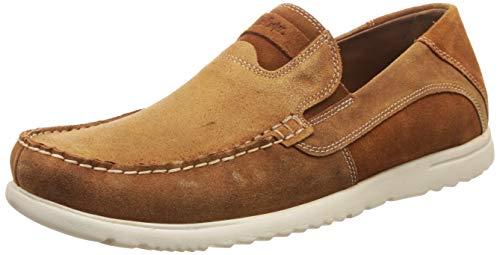 Lee Cooper Men Tan Leather Loafers-6 UK (LC1202ATAN)