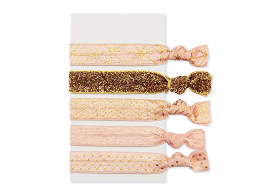 lille mus Haargummis oder Armbänder Rosa 5er-Set Glitzer