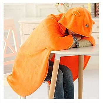 Himouto Umaru-chan Cape Umaru Chan Cloak Anime Cosplay Flannel Blanket Orange Hooded Blanket Quilt 6343inch