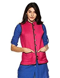 Jaypore Womens Art Silk Quilted Jacket
