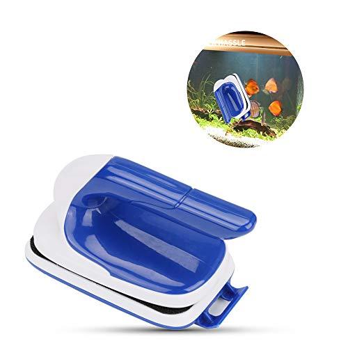 CestMall Aquarium Glasreiniger, Magnetischer Aquarium-Glasreiniger, Aquarium Reiniger Algen Schaber Fisch Tank Glas Magnet Pinsel, Magnet Fisch Tank Glass Magnet Bürste, Schwimmender-Reinigungsmagnet