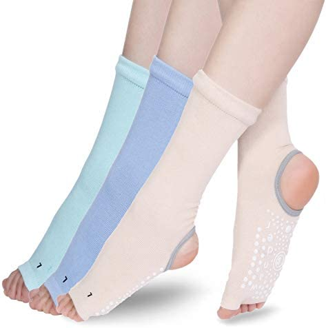 Toeless Yoga Socks for Women Non Slip Grips Pilates Barre Ballet Dance Sticky Grippers Fitness product image
