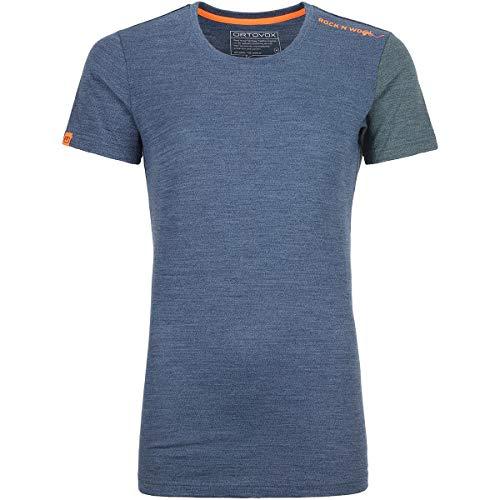 ORTOVOX Damen 185 Rock'n'Wool Short Sleeve, Night Blue Blend, M
