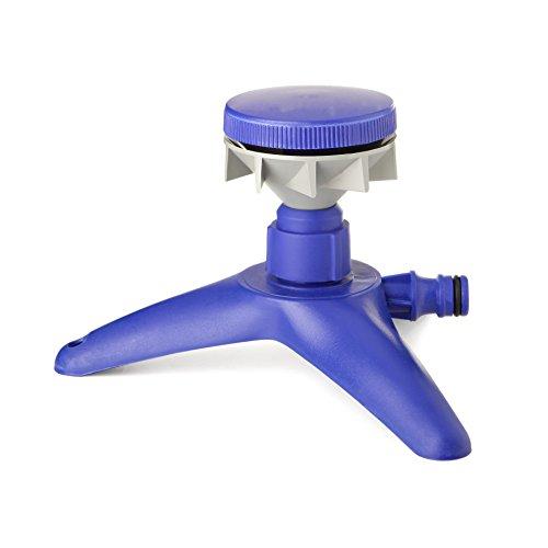 Tatay Aspersor Rotativo con Base Top Line, 15l, min, 90 m2, Conector Universal, Protección Solar, Fácil Instalación, Azul