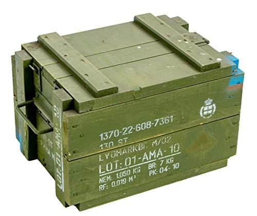 Kistenkolli Altes Land Munitionskiste Transport M00 Aufbewahrungskiste Maße Außen ca 34 x 23,5 x 22cm Werkzeugkiste Holztruhe Schatztruhe