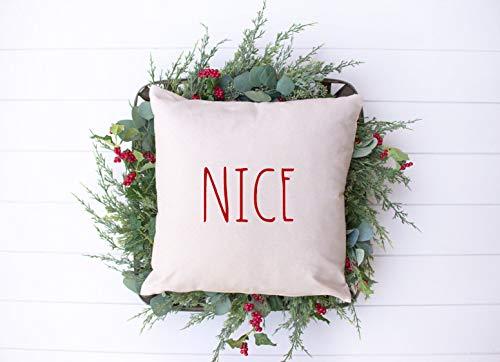 Fundas de almohada decorativas suaves fundas de almohada para decoración rústica de vacaciones | 45,7 x 45,7 cm, 50,8 x 50,8 cm, para coche, sofá, cama, sofá, decoración de Navidad