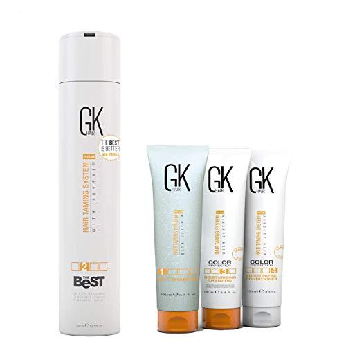 GKhair El mejor tratamiento alisador de cabello 300 ml con kit de aplicación complementaria, 100 ml