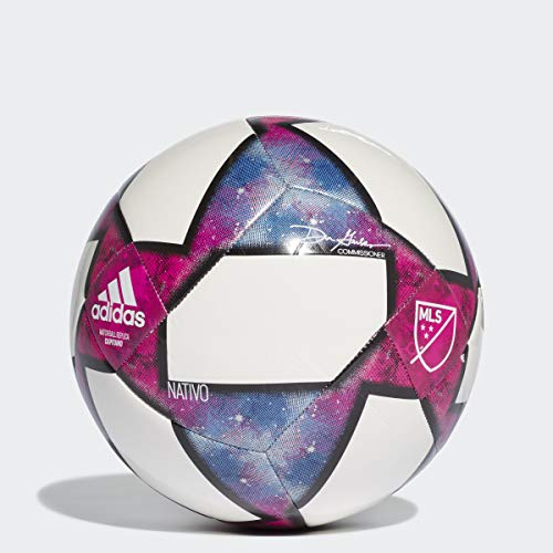 MLS Capitano Soccer Ball, White/Black/Purple, 5