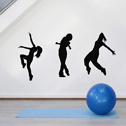 Chicas bailando calcomanías de pared hip hop freestyle street dance escuela aula dormitorio decoración interior vinilo ventana pegatina mural