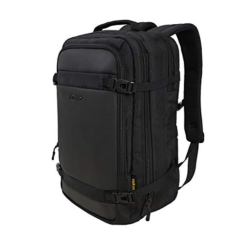 YOMEGO Travel Business Laptop Backpack Water Resistant Large Capacity Backpack for Men and Women Fit for 17 Inch Laptop, Black, Navy Color