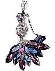 Clip di Moda del Fiore del Tulipano Fox Sirena Spille Perni della Sciarpa per Unisex Wedding Banquet Dailywear