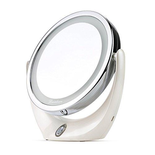BROADCARE Espejo de Maquillaje con Luces LED 1X / 5X de Aumento de Doble...