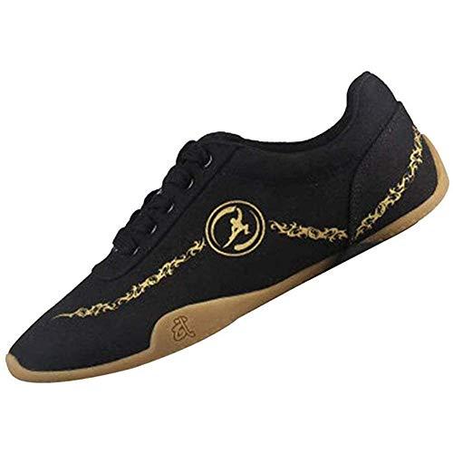 HAOLIN Scarpe da Taekwondo Scarpe da Ginnastica Leggere per Arti Marziali Scarpe per Uomo Donna Bambini Adulti Scarpe da Karate da Boxe Velcro in Pelle,A-26