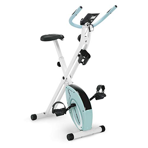 Marcy Foldable Upright Exercise Bike with Adjustable Resistance for Cardio Workout & Strength Training in Pink/Sky Blue/Navy Blue/Green/black Bikes Exercise foldable magnetic Marcy upright
