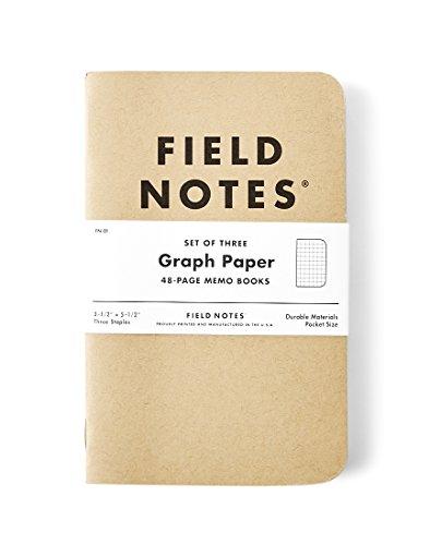 Field notes–Quaderno a quadretti (confezione da 3)