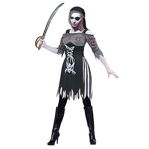 Partilandia Disfraz Zombie Pirata para Mujer (M)