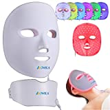 BOWKA LED Photonentherapie Maske wiederaufladbar 7 in 1...