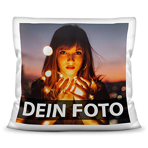 Print Royal Foto-Kissen Selbst gestalten (40 x 40 cm) - mit Foto individuell Bedruckt/aus 100% Polyester/Personalisierte Geschenk-Idee/Kopf-Kissen inkl....