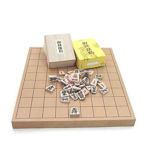 木製将棋盤セット 新桂1寸卓上接合将棋盤としっかり太字でお子さまにも分かり易い特選将棋駒