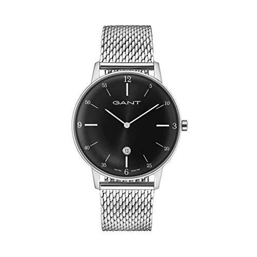 GANT Herren Analog Quarz Uhr mit Edelstahl Armband 7630043918760