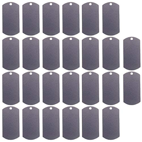 Blank Aluminum Dog Tags for Personalized Engraving or Stamping Military Dog Tags, Pet ID Tags and More: 14 Gauge Aluminum 1'x2' - 30 Pieces