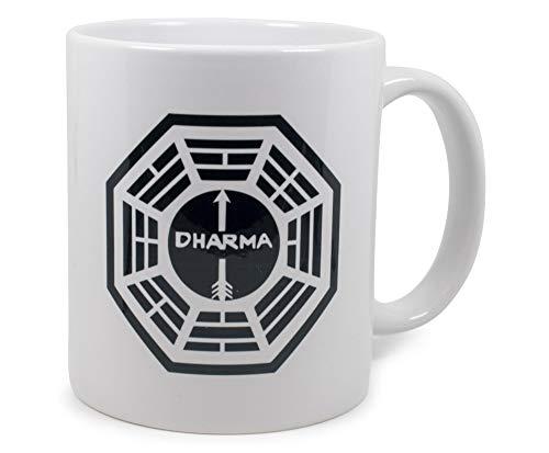 Surreal Entertainment Lost Dharma Initiative Logo Ceramic Mug   Holds 11 Ounces