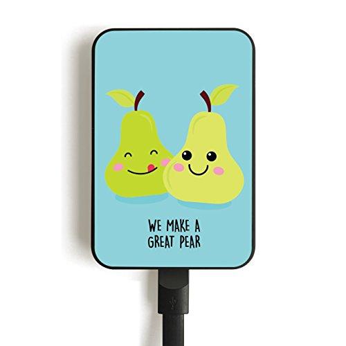 Smartoools Mc3 Pears Lithium-Polymer-Akku, 3300 mAh, Mehrfarbig, externer Akku (Kunststoff, MP3/MP4, Handy/Smartphone, Tablet, Lithium-Polymer, 3300 mAh, USB)