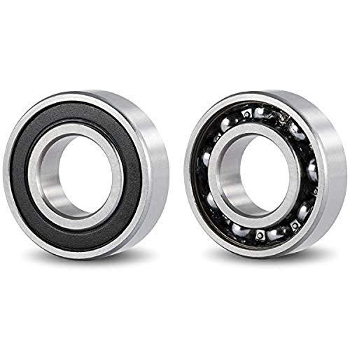 (PACK 2) DOJA Industrial | 2 unidades de Rodamientos con soporte 6005 2RS C3 Cojinete de bolas para eje de (25mm) | Cojinetes con soportes para: fresadora, impresora 3D, bricolaje.