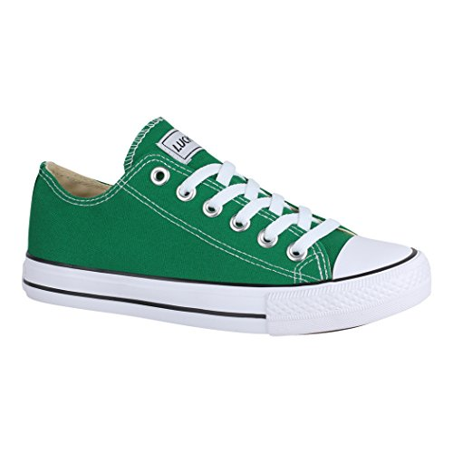 Elara Unisex Sneaker Low top Turnschuh Textil Chunkyrayan 01-A-CA01-Green-36