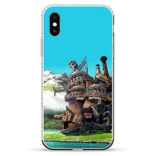 TeeTan Clear Coque Matte Slim Soft Liquid TPU Durable Case Cover for Apple iPhone X/XS-Howl's-Moving Castle Anime 5