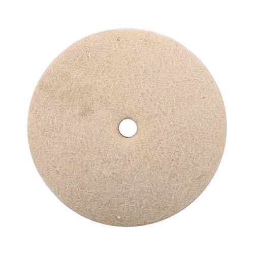 4 inch Beige Wollfilz Polierscheibe Runde Polieren Schleifscheibe Wolle Weiche Filz Polierer Disc Pad