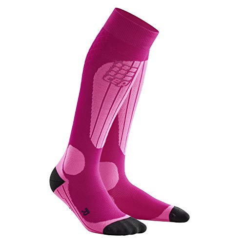 CEP - SKI THERMO SOCKS für Damen | Warme Thermosocken für Wintersport in pink | Größe III