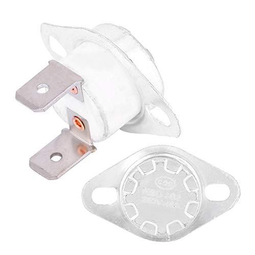 Interruptor de termostato KSD302, interruptor de control de temperatura cerrado normal de 250V 16A para desinfectar armarios, botellas de agua hirviendo eléctricas(#26)